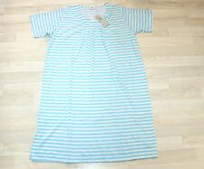 Nachthemd lang hellblau gestreift XL Kurzarm Nachtwäsche Sommer NEU °4300