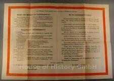 """108460, Aushang des Reichsluftschutzbund """"Weisungen im Luftschutzraum"""" 1941"""