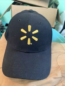 Walmart Spark Associate Adjustable Baseball Hat Black Logo Employee Cap Uniform
