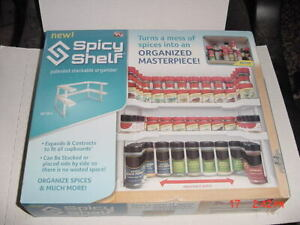 BRAND NEW - Spicy Shelf Universal Organizer ** As Seen on TV **
