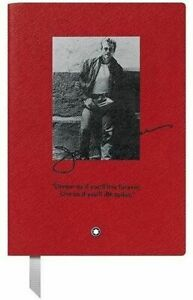 Montblanc Fine Stationery Notebook #146 RED Great Characters James Dean - Ruled