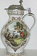 1984 Lidded Weinlese Rupert Schneider 2 Liter Porcelain Growler Made in Germany