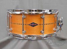 Craviotto Custom Snare Drum 6.5x14 Mahogany w/ Walnut Inlay BB/BB Bearing Edges