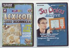 Lexicon word challenge & Su Doku active - 2 jeux PC-Fast Post-New & Sealed