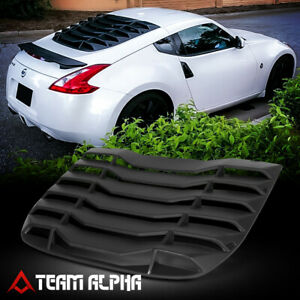 Fits 2009-2014 Nissan 370z Coupe[MATTE BLACK]Rear Window Louver Sun Shade Cover