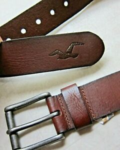 Hollister by Abercrombie & Fitch Brown Belt For Men Sz  32 - NWT