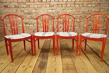 60er Esszimmerstühle 4x Mid Century Design Stuhl Set Dining Chairs Danish Modern