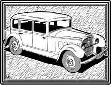 Coloring Page - Retro Car # 2 (Hi-Res JPG file will be sent by email)