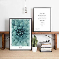 Flower Motivational Quote Canvas Poster Wall Art Prints Home Decor No Frame AU !