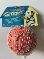 """JW Pet Company Medium Giggler Ball Heavy Rubber Dog Toy 3"""" Red Fetch Toy"""