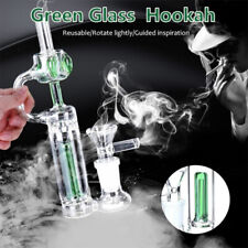 6.2Inch Mini Glass Bong Water Pipes Hookah Tobacco Recycler Bubbler With Bowl