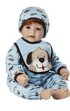 "Real Baby Doll 20"" Red Hair Blue Eyes Realistic Soft Newborn Reborn Boy Toddler"