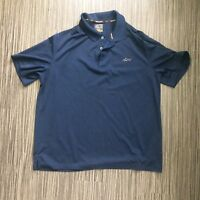 Greg Norman Mens Large Navy Blue Golf Polo