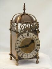 """Quality Lantern Clock Solid Brass Bell Strike Mantle Mantel Carriage 9"""" 3/4 High"""