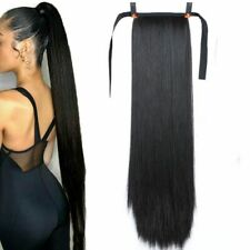 Super Long Straight Clip In Tail False Hair Ponytail Hairpiece Hairpin Extension