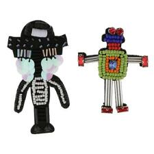 3D Robot Rhinestone Applique Patch Decoration Iron/Sew on DIY Doll Toy Craft