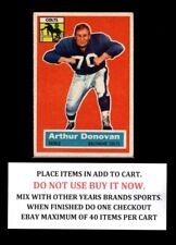 1956 TOPPS FOOTBALL #1 TO #60  SELECT CARDS FROM LIST