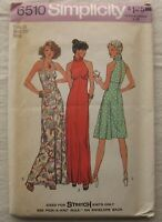 Vintage Dress Gown Sewing Pattern*Simplicity 6510*Size 16*UNCUT/FF*halter*formal