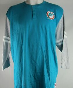 Miami Dolphins NFL Mitchell and Ness Men's 3/4 Sleeve Shirt