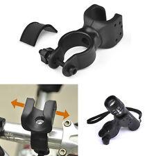 2x Drehbare Fahrrad Taschenlampe Halterung Radsport Licht Lampen Ständer Halter