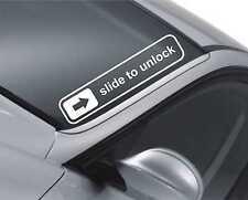 Slide to unlock Windscreen Sticker Drift Car Slammed JDM Lowered Dub  Decal m25