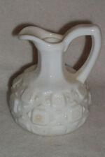 VTG WHITE MILK GLASS CRUET STARBURST PATTERN OIL E