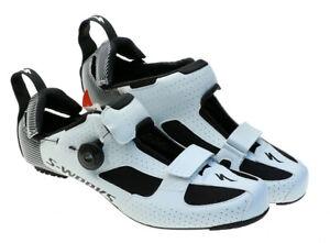 Specialized S-Works Trivent Triathlon Bike Shoe 46.5 EU 12.6 US White 2019 NEW