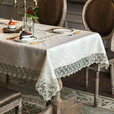 Rustic Beige Lace Tablecloth Square Rectangle Home Decor Dining TV Table Covers