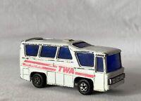 Vintage TWA Bus / Van SZE Toy Car Made in Hong Kong #1601