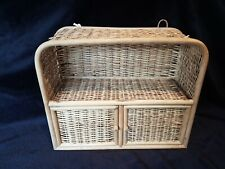 Vintage Bamboo cane Weaved wall cabinet - Retro Wicker Rattan