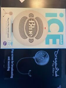 Snowball Ice USB Microphone w/ stand and pop filter.