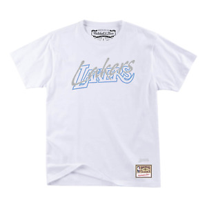Men's Mitchell & Ness White NBA Los Angeles Lakers Blue North T-Shirt
