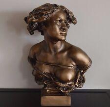 La Negresse Negress Captive Bust Sculpture by 19 century Jean-Baptiste Carpeaux