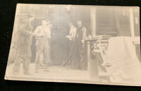 RPPC Men Working In Shop/industrial Setting c1910 Real Photo Postcard AZO
