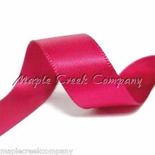 """5yd of Fuchsia Pink 5/8"""" Double Face Satin Ribbon 5/8"""" x 5 yards neatly wound"""