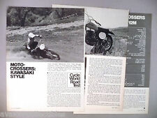Kawasaki Moto-Crosser Motorcycle Review MAGAZINE ARTICLE - 1973