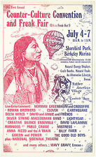 Counter-Culture Convention and Freak Fair poster from 1974