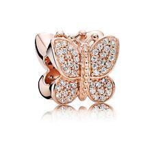 Genuine Pandora Rose Gold Sparkling Butterfly Bead Charm 781257CZ