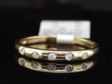 14K Diamante Oro Amarillo señoras de compromiso alianza de boda nupcial Aniversario Anillo