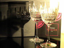 Waterford Crystal Lismore Diamond White Wine Glass Set of 2 Brand New in Box
