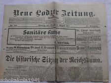 Alte --Lodzer Zeitung- vom 10. August 1914
