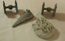 Disney's Star Wars Die Cast Ships Millennium Falcon,2Tie Fighters,Star Destroyer