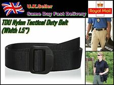 "Police/Army/Uniform Tactical Duty Belt 100% TDU Nylon Width 1.5"", 48-50, Black"