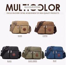 Men Vintage Shoulder Messenger Bag Satchel School Military Crossbody Bags