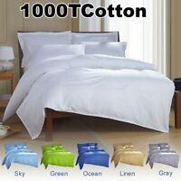 100% Cotton Single/Double/Queen/King Striped Quilt Duvet Doona Cover Set AU