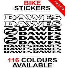 Dawes decals stickers sheet (cycling, mtb, bmx, road, bike) die-cut