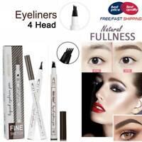4 Head Microblading Makeup Eyebrow Tattoo Pen Fork Tip Eye Brow Pencil Ink Pen
