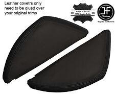BLACK & BLACK LEATHER 2X DASH END SIDE TRIM COVERS FITS VW T5 TRANSPORTER 03-11