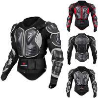 Men Motorcycle Full Body Armor Jacket Motocross Racing Spine Chest Protecto Coat