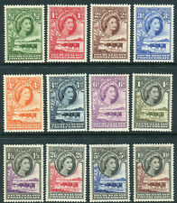 BECHUANALAND-1955-58  A lightly mounted mint set to 10/- Sg 143-153